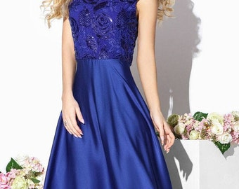 Royal Blue Maxi dress Prom Dress Cocktail Dress short sleeve Party dress electric blue Evening dress Holiday dress Floor length dress red