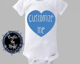 Custom Onesie, Custom Bodysuit for Baby