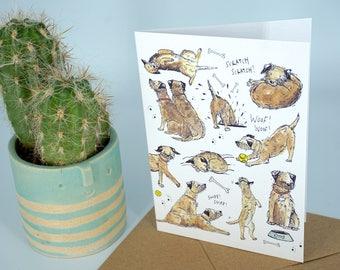 Greetings Card - Terriers