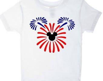 4th of July Mickey, 4th of July, Disney, Disney Family Shirts, Fourth of July, Mickey Mouse, Disney Fireworks, Disney 4th of July Shirts