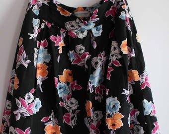 Floral, A line skirt, UK 14