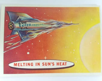 Melting In Sun's Heat Topps Target : Moon Trading Card Number 79 of 88 1958 Salmon Back Non Sports Atomic Age Mid Century Collectible Card