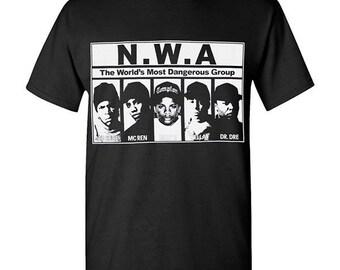 N.W.A Most Dangerous group Hip Hop Legend Graphic T Shirts