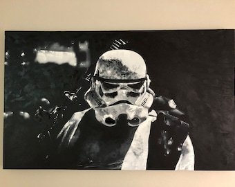 Star wars storm trooper painting
