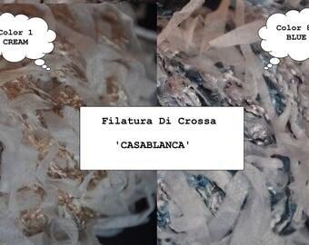 Filatura Di Crosa CASABLANCA - Discontinued Yarn - Italian Yarn - Vegan - Ribbon / Boucle Novelty Yarn - Viscose, Polyamide, Acralic Mix -