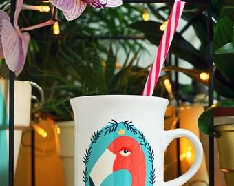 The Pink Flamingo - mug
