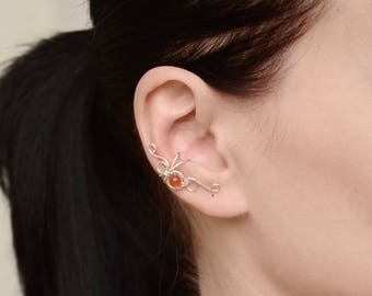 Cartilage ear cuff Non pierced Delicate earring fake piercing Minimalist ear cuff Conch piercing Fake earrings cuff Helix cuff earring