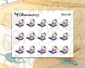 BUJI-126 | SLEDDING SLED | Hand-drawn Planner Stickers