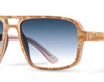 Premium Wooden Sunglasses Basho Light