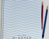 2018 Day Planner with Waves | Appointment Book | Weekly | 13 months Jan 18 - Jan 19 |  Scheduling | Massage Manicurist Lash Stylist | Dated