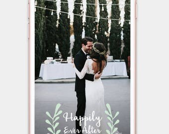 Wedding Snapchat Geofilter // Custom & Personalized - Leaves