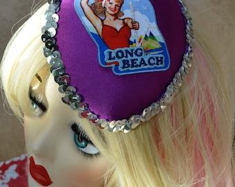 Pillbox Hat Fascinator Pin Up Sequins Millinery Bibi Fifties