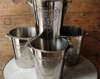 A collection of  vintage Giesler champagne buckets. Can be sold seperately.