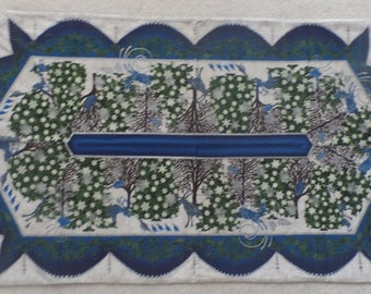 Winter Table Runner - Quilted Table Topper