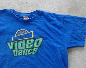 Vintage 90's Much Music Video Dance Blue/Green t-shirt XL