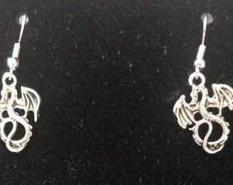 Silver Dragon Earrings