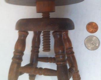 Vintage Wooden Bar Stool Salesman S&le Piano Stool Adjustable Just Like the & Piano stool | Etsy islam-shia.org