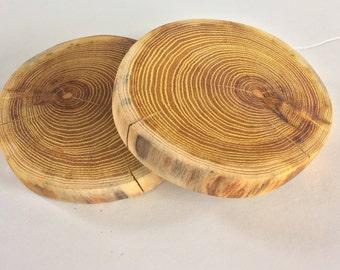 Rustic/Natural Orange Hedgewood Coasters x4
