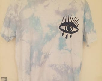 All-Seeing Eye DIY Grunge Tie Dye Shirt - MEDIUM
