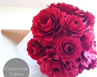Paper Flower Gift Bouquet | Custom Colors | Gifts for her | Custom Gifts |Handmade Gifts