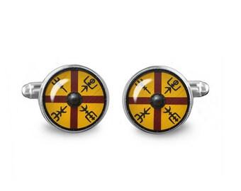 King Harold Shield Cuff Links Shieldmaiden Vikings Cuff Links 16mm Cuff links Gift for Men Groomsmen Fandom Jewelry
