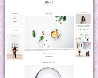 SALE! Lipa Lo | Responsive Minimalist Premade Blogger Template