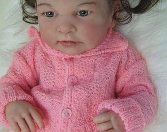 Emma Reborn Baby Doll Full body vinyl Open eyes Girl Baby doll Anatomically correct Biracial baby doll