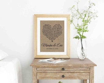 Wedding Gifts- Wedding Song Lyric Art- Anniversary Gifts- Framed Song Lyrics- Engagement Gift- First Dance Lyrics- Custom Song Lyrics-