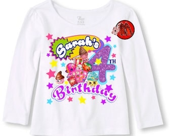 Shopkins Birthday Shirt Long Sleeve T-shirt
