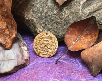 Skull Bronze Coin/Pendant
