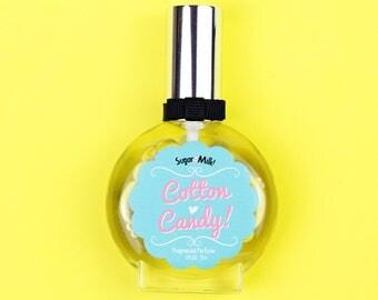 Cotton Candy Perfume / Perfume Oil / Body Mist / Candy Perfume / Vegan Perfume / Handmade Perfume / Natural Perfume / Perfume Atomizer