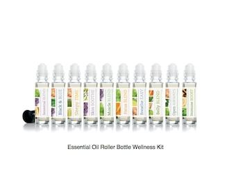 Wellness Essential Oil Roller Bottles (individual or full set)