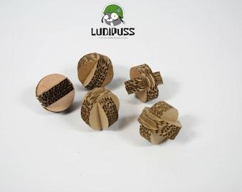 Cardboard Catnip Balls