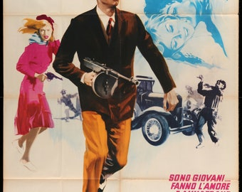 Bonnie and Clyde (1967) Original Italian 2 Fogli Movie Poster