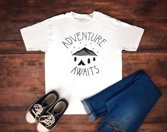 adventure awaits-adventure shirt-camping shirt-shirt-adventure-hiking shirt-t shirt-t-shirt-tshirt-adventure awaits tee