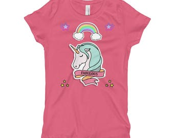 Fabulous Princess Unicorns Girl's T-Shirt