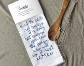 Wash the Plate Tea Towel - Saint quote kitchen decor
