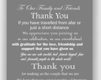 Thank You Poem For Wedding