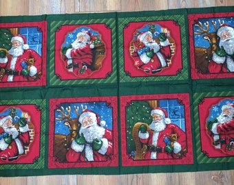 Holly Jolly Christmas Cotton Fabric Panel from Robert Kaufman Fabrics