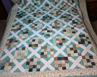 Elementary Queen Sized Bed Quilt