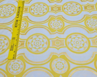 Zest-Yellow Cotton Fabric Designed by Maria Kalinowski for Kanvas Studios