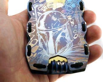 Custom Tactic Titanium Minimalist Slim Wallet, RFID Protect, Mens Wallet, Business Card Holder, Front Pocket Wallet, Tactical Wallet