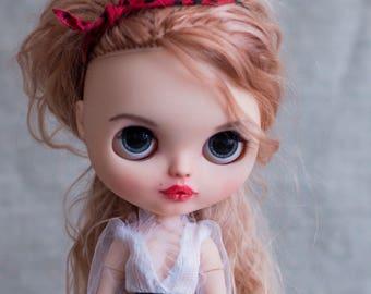 Custom Blythe doll with long natural hair. TBL OOAK