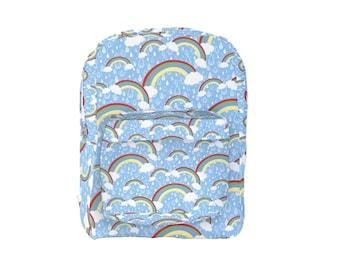 Rainbow Print Backpack Rainy Day *MTO, Month*