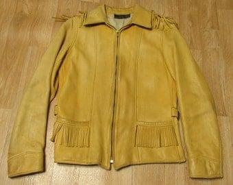 Cherveny Glover Tanning Co Deer skin leather fringe jacket 1940s 40s native
