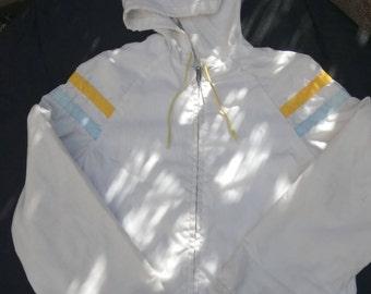 Child's Lightweight White Cotton Jacket - Retro early 1980s