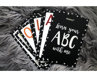 ABC Flash Cards / Baby / Alphabet / Toddler Learning / Preschool / Practice Writing / Letters / Educational Aid / English Writing Aid