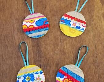 Modern holiday decor - Bohemian holiday - Boho holiday decor - Bohemian Christmas - Rustic Christmas- Christmas ornaments- Boho ornament set