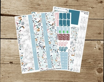 Choose your Month(ly) kit-- Diamonds(for use in Erin Condren Life Planner)