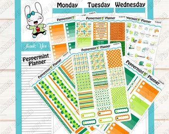 St Patrick Day Weekly Planner Kit --- Planner Stickers --- Will fit in your Erin Condren Vertical Planner --- ECV10